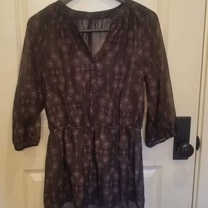 Maurices printed sheer tunic